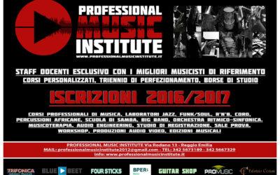PMI – Professional Music Institute – Nuovo anno accademico 2016/2017